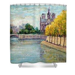 Autumn On The Seine Shower Curtain