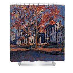 Autumn On The Square Of Our Lady Maastricht Shower Curtain