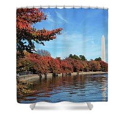 Autumn On Tidal Basin Shower Curtain