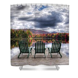 Shower Curtain featuring the photograph Autumn On West Lake by David Patterson