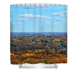 Autumn Overlook Shower Curtain by Nikki McInnes