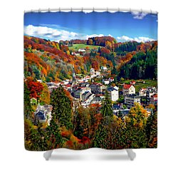 Autumn Panorama Shower Curtain