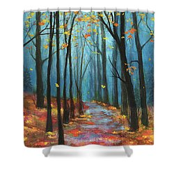 Autumn Path Shower Curtain by Terry Webb Harshman
