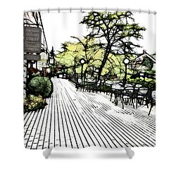 Autumn Patio Shower Curtain