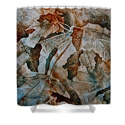 Shower Curtain featuring the painting Autumn Patterns by Carolyn Rosenberger
