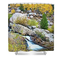 Shower Curtain featuring the photograph Autumn Peace by Gary Lengyel