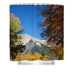 Autumn Peaks Shower Curtain