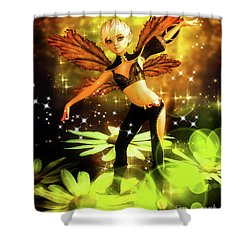 Autumn Pixie Shower Curtain