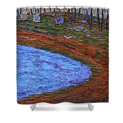 Autumn Pond Shower Curtain