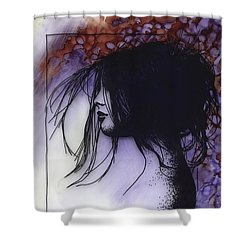 Shower Curtain featuring the painting Autumn by Ragen Mendenhall
