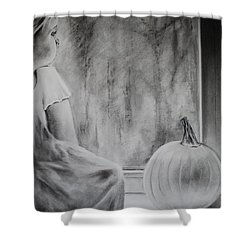 Autumn Rain Shower Curtain by Carla Carson
