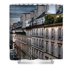 Autumn Rain Paris France Shower Curtain