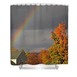 Autumn Rainbow Shower Curtain