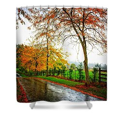 Autumn Rains Shower Curtain
