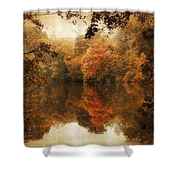 Autumn Reflected Shower Curtain by Jessica Jenney