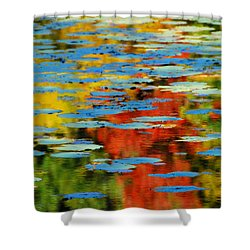 Shower Curtain featuring the photograph Autumn Lily Pads by Diana Angstadt