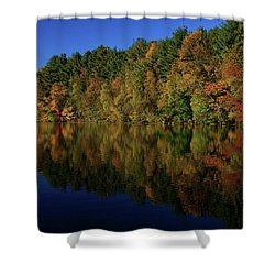 Autumn Reflection Of Colors Shower Curtain by Karol Livote