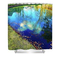 Autumn Reflection Pond Shower Curtain