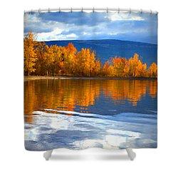 Autumn Reflections At Sunoka Shower Curtain by Tara Turner