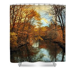 Autumn River Lights Shower Curtain by Jessica Jenney