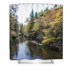 Autumn River Shower Curtain by Ricky Dean