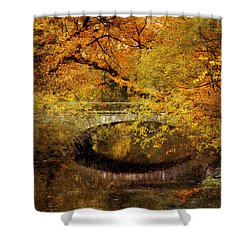 Autumn River Views Shower Curtain by Jessica Jenney