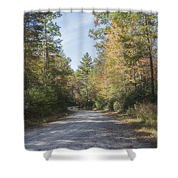 Autumn Road Shower Curtain by Ricky Dean
