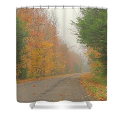 Autumn Roads Shower Curtain