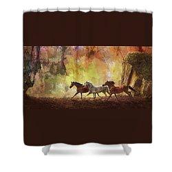 Autumn Run Shower Curtain