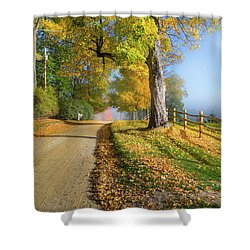 Autumn Rural Road Shower Curtain by Bill Wakeley