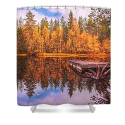 Shower Curtain featuring the photograph Autumn Season  by Rose-Maries Pictures