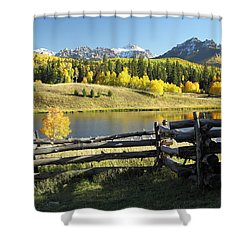 Autumn Serenade Shower Curtain by Eric Glaser