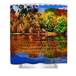Shower Curtain featuring the painting Autumn Serenity Philanthropy Painted by Diane E Berry