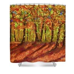 Autumn Shadows Shower Curtain