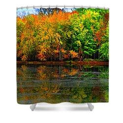 Autumn Sings Shower Curtain