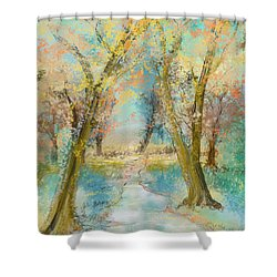 Autumn Sketch Shower Curtain