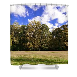Autumn Skies Shower Curtain by Bill Cannon