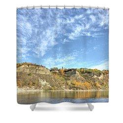 Autumn Sky On The River Shower Curtain