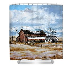 Autumn Slips Away Shower Curtain