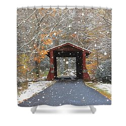 Autumn Snow Shower Curtain