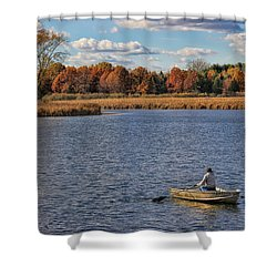 Autumn Solitude Shower Curtain by Pat Cook