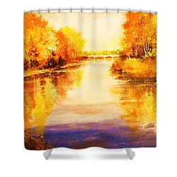 Autumn Gateway Shower Curtain