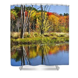 Autumn Splendor - Bolton Flats Shower Curtain