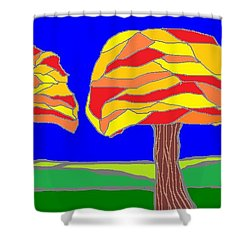 Autumn Stained Glass 1 Shower Curtain