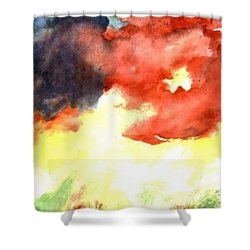 Shower Curtain featuring the painting Autumn Storm by Andrew Gillette