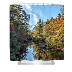 Autumn Stream Shower Curtain