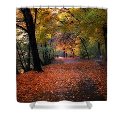 Autumn Stroll Shower Curtain by Jessica Jenney