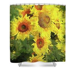 Autumn Sunflowers Shower Curtain