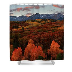 Autumn Sunrise At Dallas Divide In Colorado Shower Curtain by Jetson Nguyen