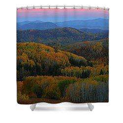Autumn Sunrise At Rainbow Ridge Colorado Shower Curtain by Jetson Nguyen
